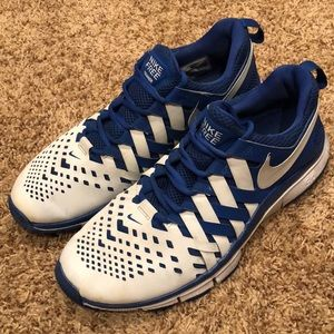 Nike Free Trainer 5.0 Game Royal/White Size 10.5